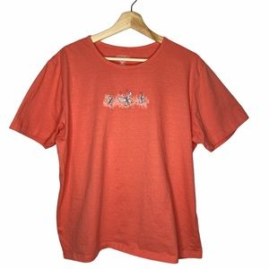 NR Coral Butterfly Graphic Tee